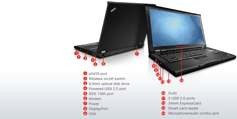 Lenovo Thinkpad T410 Core I5 2 40ghz 14 1 Quot 1440x900 4gb